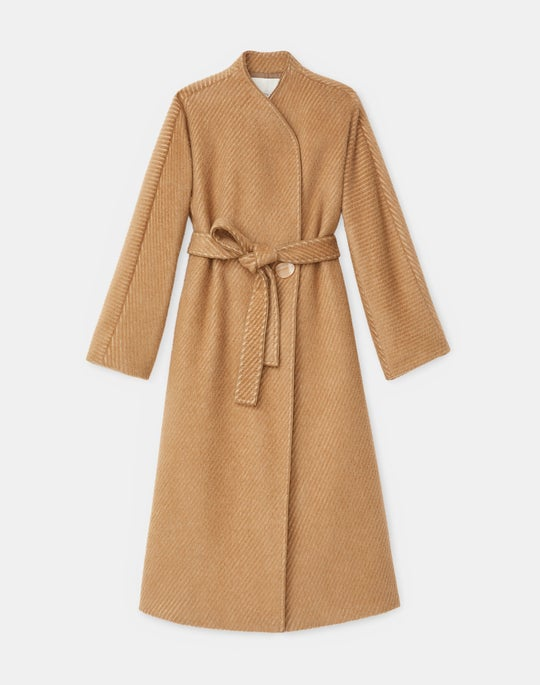 Ryland Coat In Italian Crafted Camel Hair