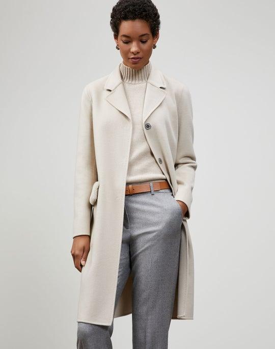 Luxe Cashmere Mink-Trimmed Esme Coat