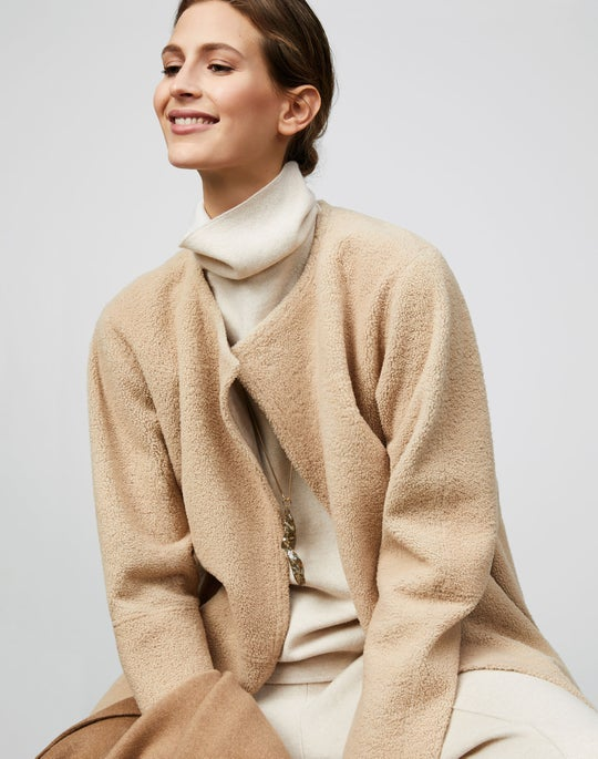 Shearling Stephens Coat and Knit Pull on Pant