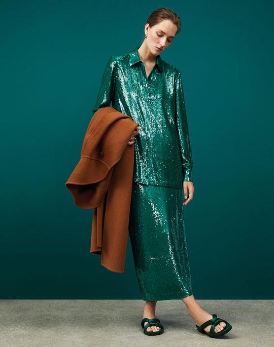 Yara Coat and Casey Pencil Skirt