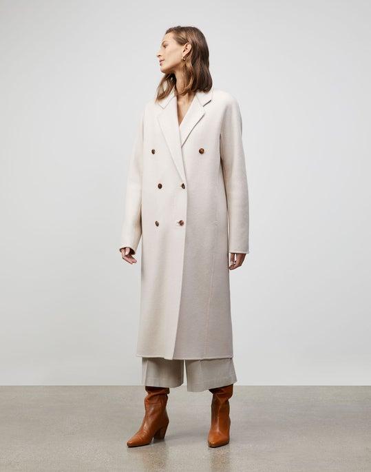 Plus-Size Brushed Cashmere Jasper Coat