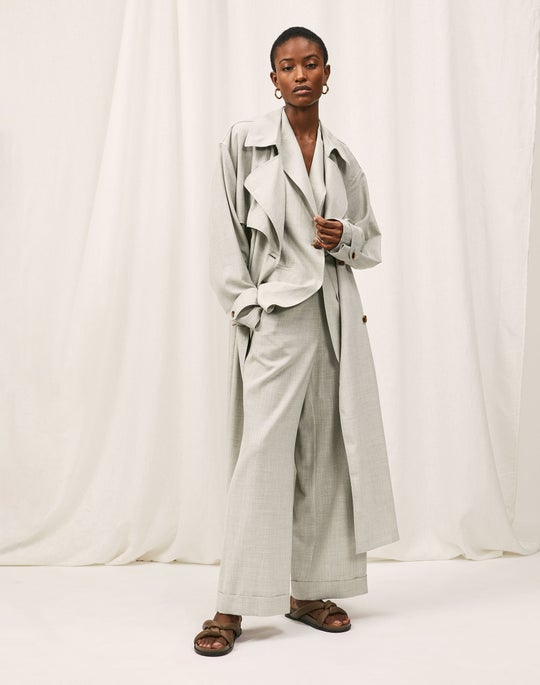 Blake Trench Coat and Riverside Cropped Pant