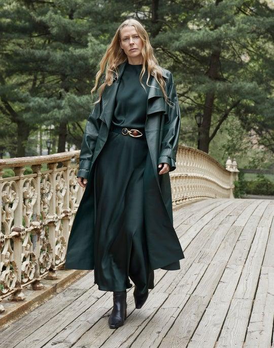Blake Trench Coat and Nelya Skirt