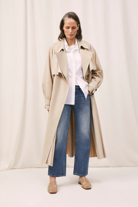 Blake Trench Coat and Cropped Wyckoff Jean
