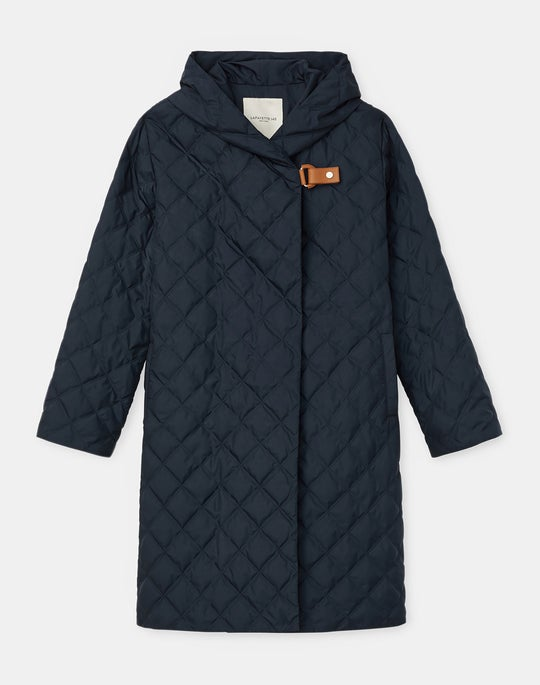 Plus-Size Drew Down Coat In KindMade Feather Tech