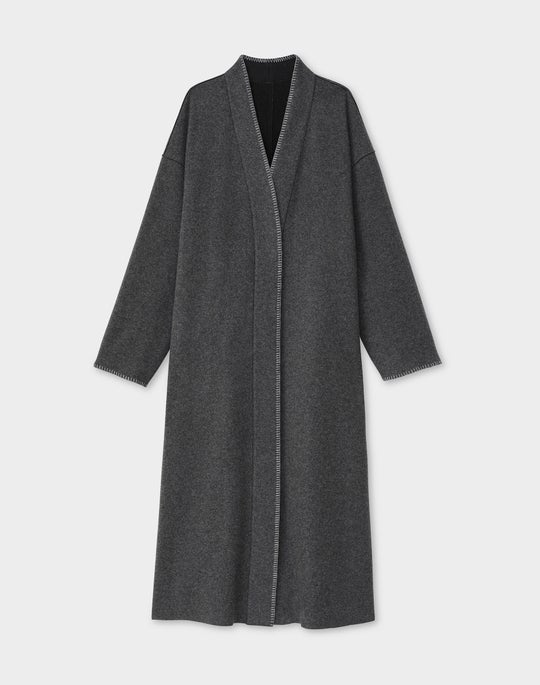 Julien Reversible Coat In Lofty Italian Double Face Wool-Cashmere