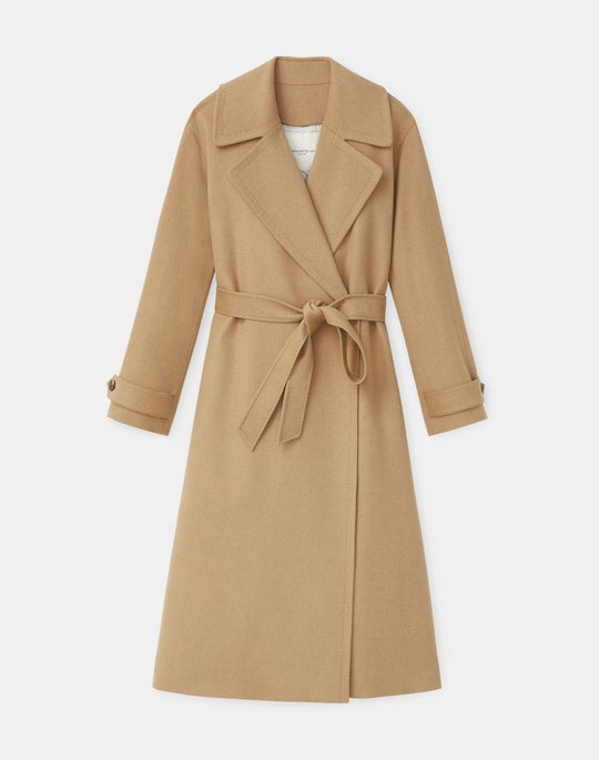 Plus-Size Silas Coat In Camel Hair