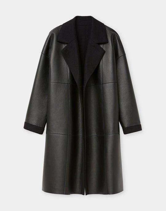 Bowen Reversible Coat In Plonge Lambskin