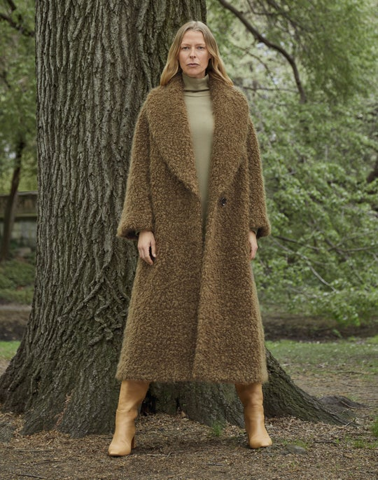 Greenwich Coat and Turtleneck Dress Outfit