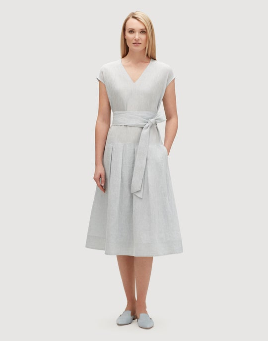 Plus-Size Illustrious Linen Remington Dress