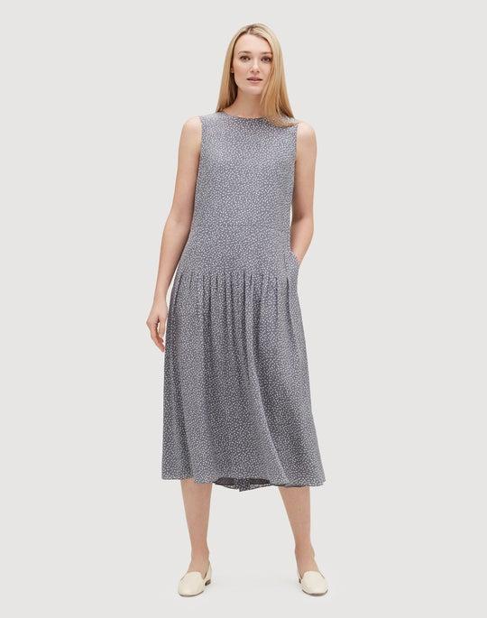Confetti Print Silk Avalynn Dress