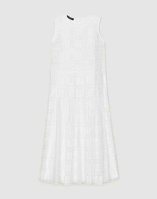 Translucent Grid Lace Avalynn Dress