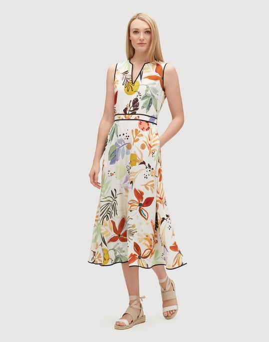 Fiore Print Drape Cloth Janelle Dress