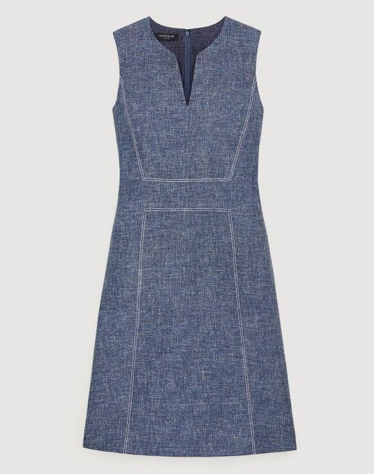 Sublime Space Dye Cotton-Linen Brett Dress