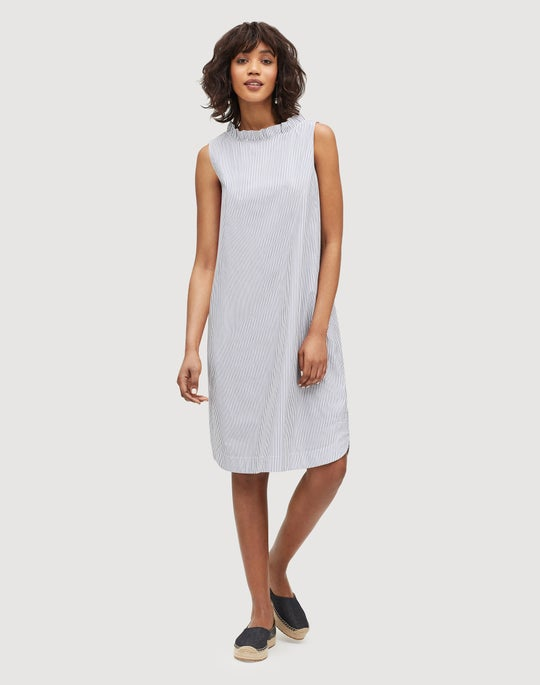 Petite Languid Stripe Cotton Yvette Convertible Dress