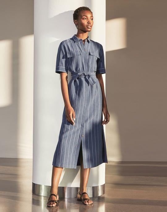 Short Sleeve Doha Shirtdress Outfit