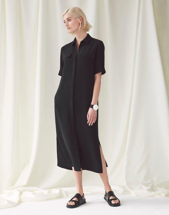 Short Sleeve Midi Doha Shirtdress and Maelee Sandal