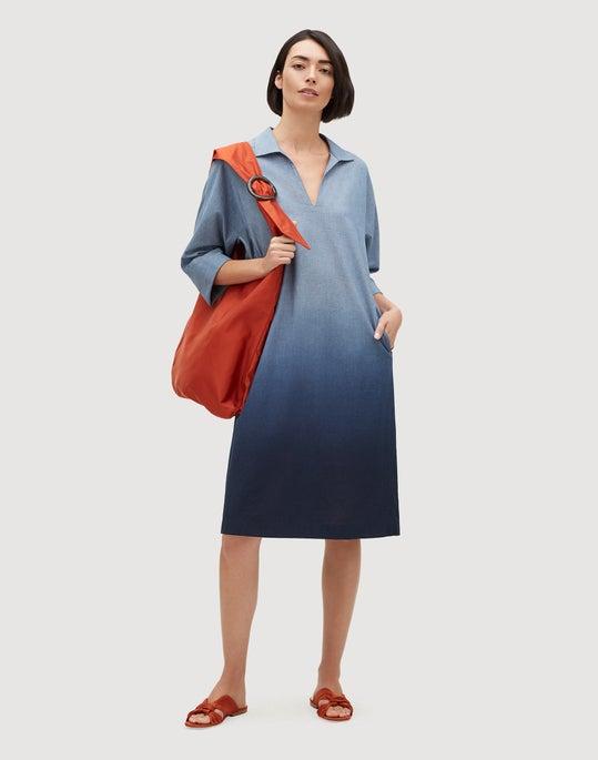 Chambray Ombré Nicole Dress