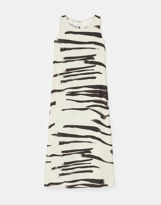 Plus-Size Ross Dress In Painted Zebra Stripe Print Drape Cloth