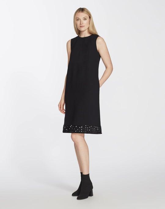 Nouveau Crepe Embellished Morganna Dress