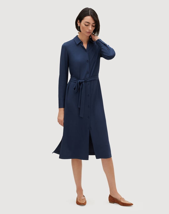 Plus-Size Midweight Matte Jersey Rea Shirtdress