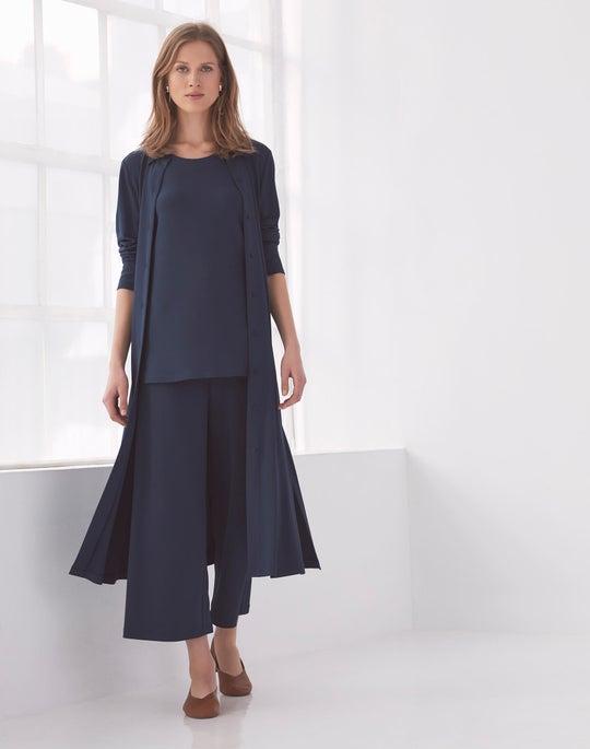 Blue Rea Shirtdress and Cropped Riverside Pant