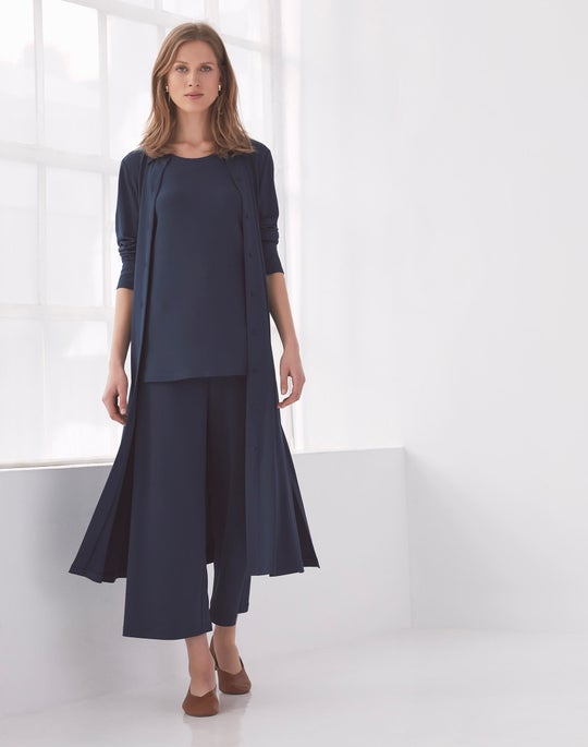 Blue Rea Shirtdress and Cropped Riverside Pant