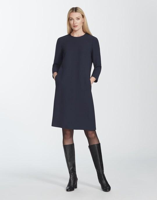 Plus-Size Finesse Crepe Quintana Dress