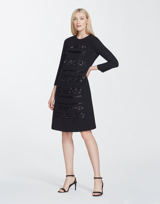 Nouveau Crepe Embellished Giovanetta Dress