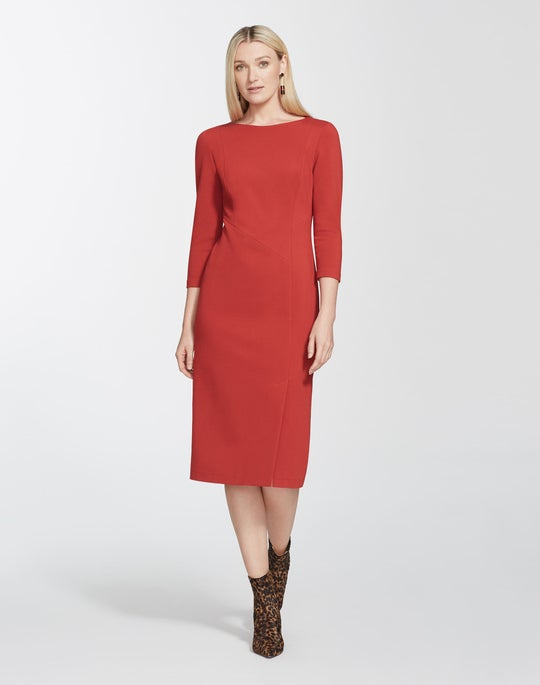 Italian Punto Milano Aldrich Dress