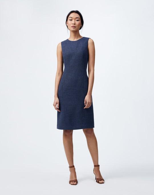 Italian Linen-Virgin Wool Suzanne Dress