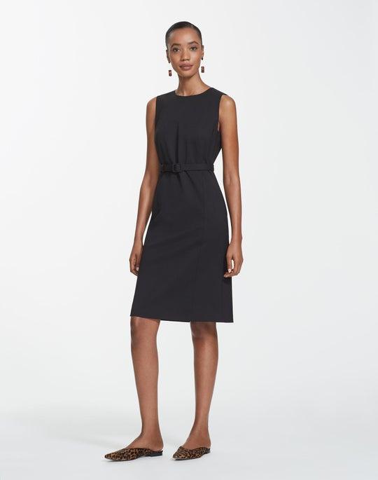 Plus-Size Italian Stretch Wool Suzanne Dress