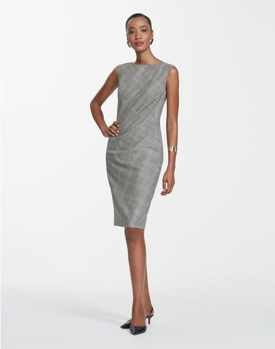 Plus-Size Houndstooth Plaid Della Dress