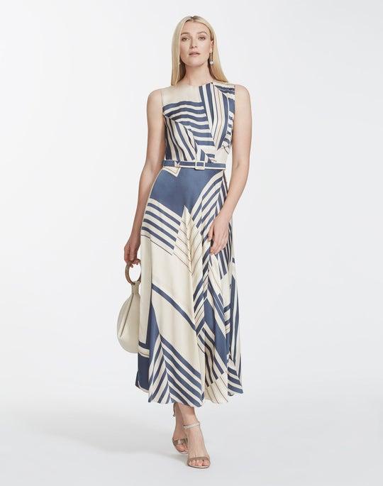 Eclipse Print Sheen Cloth Amalia Dress