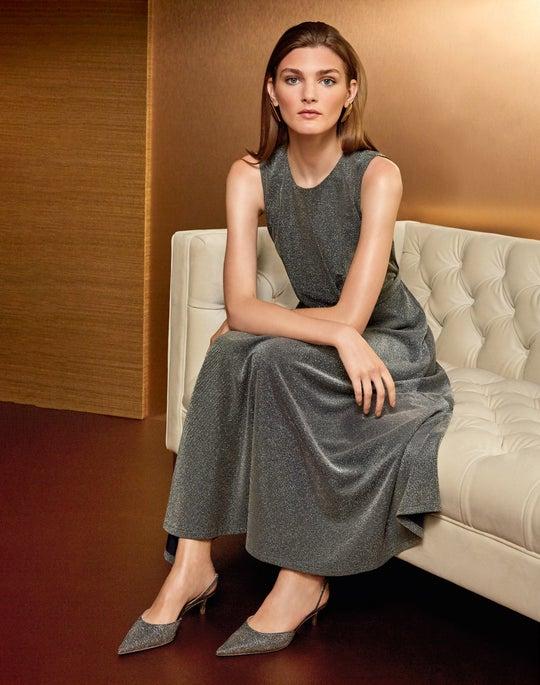 Metallic Pique Amalia Dress Outfit