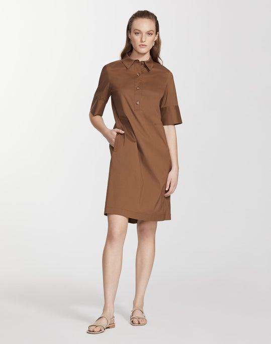 Classic Stretch Cotton Conroy Dress