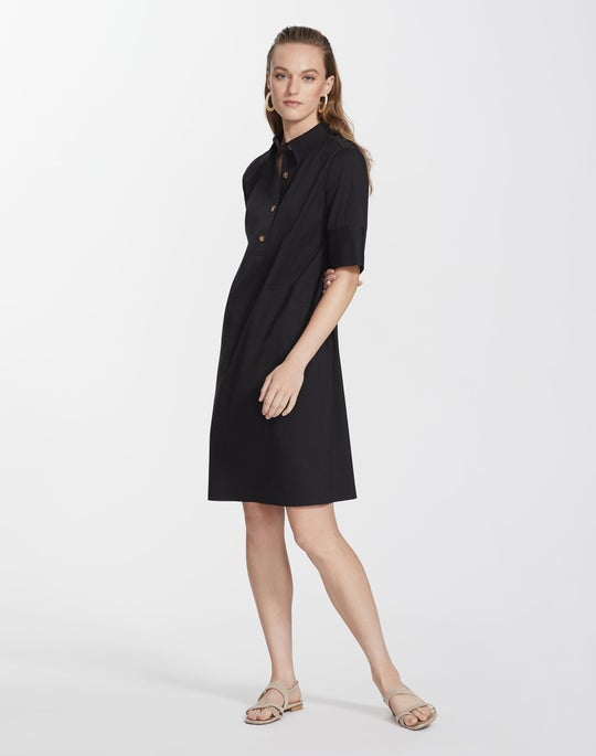 Plus-Size Classic Stretch Cotton Conroy Dress
