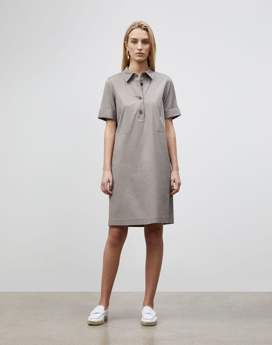 Plus-Size Conroy Dress In Classic Stretch Cotton