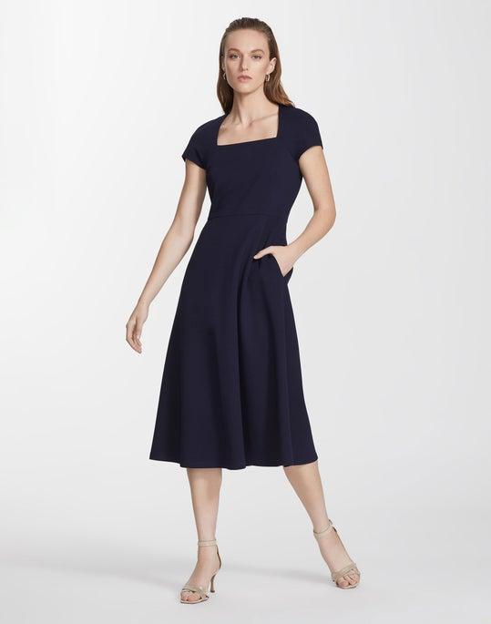 Petite Punto Milano Daisy Dress