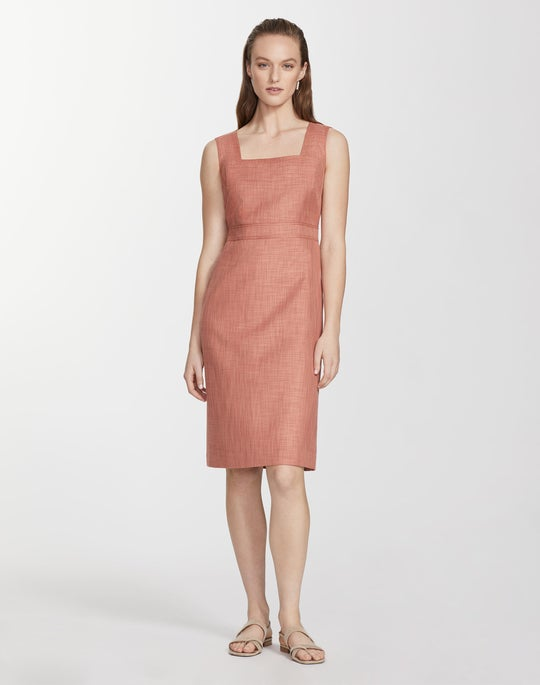 Plus-Size Monarch Weave Loro Piana® Spencer Dress