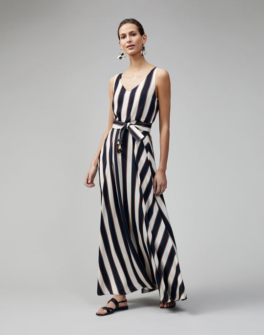 Seaside Stripe Memphis Dress