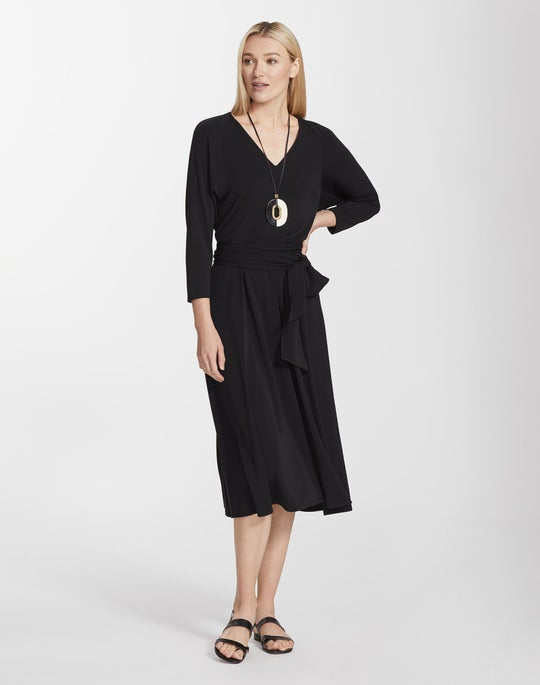 Plus-Size Midweight Matte Jersey Evans Dress