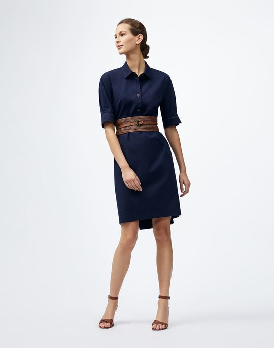 Italian Pima Cotton Bi-Stretch Boyes Shirtdress