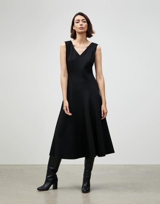 Petite Punto Milano Delfina Dress