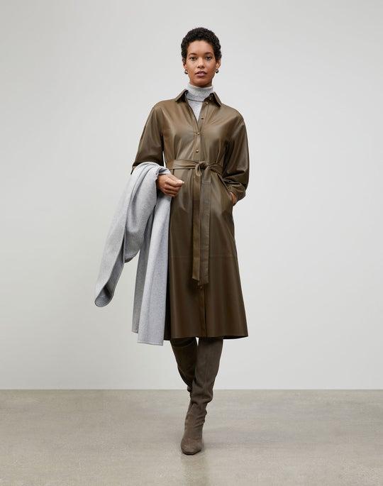 Lightweight Plonge Lambskin Davies Duster Dress