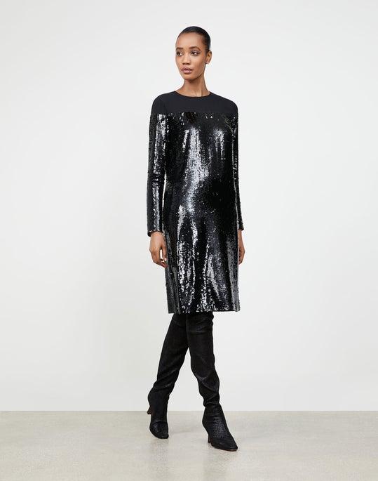 Petite Spectrum Sequins Annelise Shift Dress