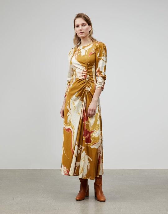 Lava Print Astrid Dress