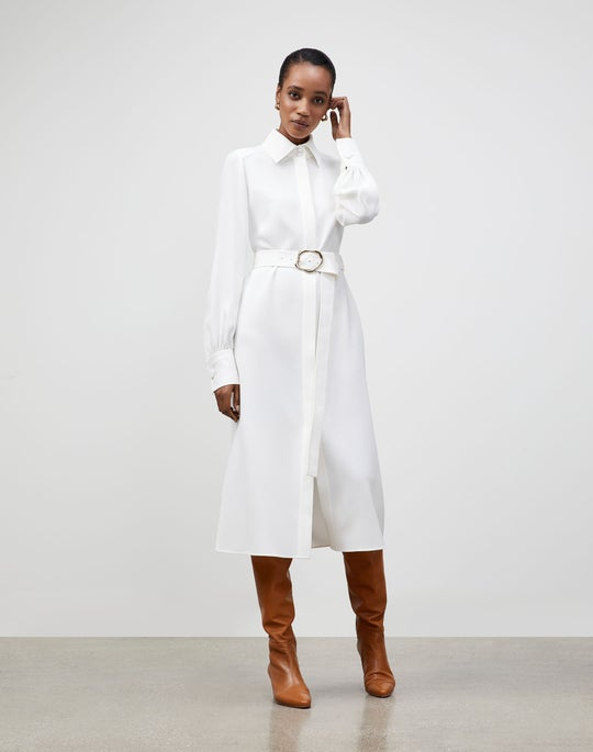 Petite Finesse Crepe Soraya Shirtdress
