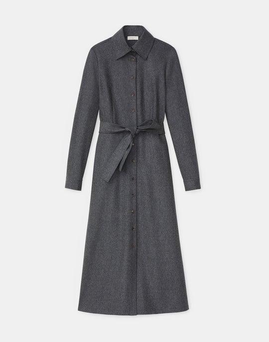 Adair Shirtdress In Finite Italian Flannel