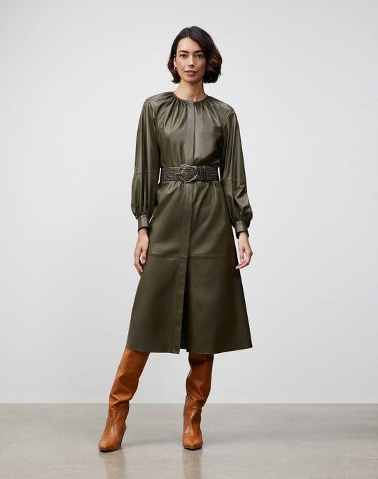Lightweight Plonge Lambskin Florentina Dress